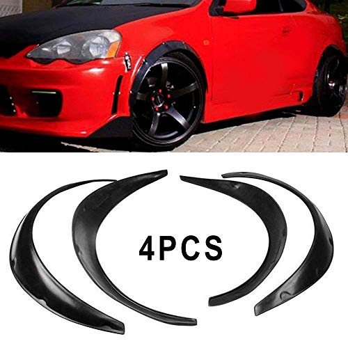 yjracing 4X Universal Fender Flares Auto Car Wide Body Kit Black