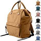 Peicees Wide Open School College Student Backpack Casual Multipurpose Doctor Diaper Backpack Bag Lightweight Travel Bag Laptop Backpack 19L for Women Men Boys and Girls(Earth Yellow)