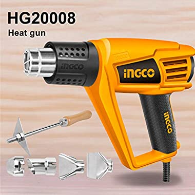 Ingco Plastic Jpt 2000 W Plastic Heat Gun With 6 Accessories, Yellow, Standard Size 7