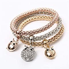 Fine Or : Item Type:BraceletsStyle:TrendyChain Type:Link ChainBracelets Type:Str BraceletsSetting Type:NoneMaterial:CrystalMetals Type:Zinc AlloyShape\Pattern:HeartGender:WomenClasp Type:Lobster-Claw-ClaspsCompatibility:NaFunction:NaPlace Of ...