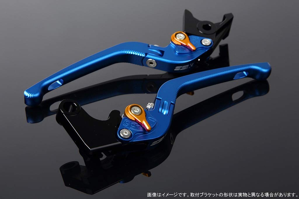 SSK アジャストレバー 3D可倒式 レバー本体カラー:マットブルー アジャスターカラー:マットゴールド LVDM036BE-GD B07MX9MVYY