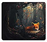 fox mouse pad - Brain114 Personalized Top-Quality Textured Surface Water Resistent Mousepad Fox In The Forest Customized Non-Slip Gaming Mouse Pads