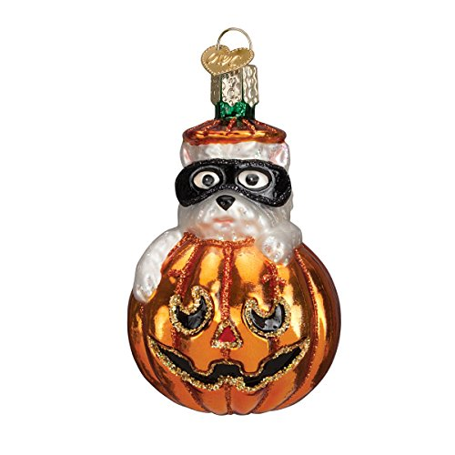 Old World Christmas Westie Pumpkin Glass Blown Ornament (Ornament Halloween Glass)