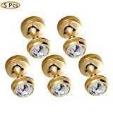 WINCASE Luxury 5 Pcs Towel Hook Robe Hook Clothes Hook, Solid Brass Wall Mounted Polished Gold Finished European Style for Bedroom
