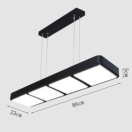 NYDZ Tira LED Lámparas de Oficina Derecha, Ángulo, Tiendas de Ropa Restaurante Sala de Estar Sala de Estudio Luces Colgantes: Amazon.es: Hogar