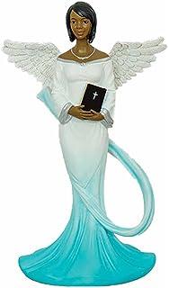 Sash Angel in Green African American Angel Statue 17765