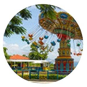 my-puzzle-design alfombrilla de ratón Carousel en la isla - ronda - 20cm