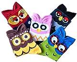 Magic Pieces Cartoon Style Ankel Socks-Owl Pack of 5 PCS