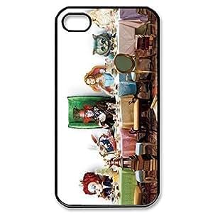 Alice in Wonderland Hard Cover Case for iPhone 5 5s case -black CASE