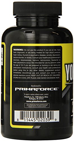 PrimaForce Yohimbine HCl, 270 Count 2.5mg Capsules Weight Loss Supplement – Supports Fat Loss/Enhances Sexual Wellness