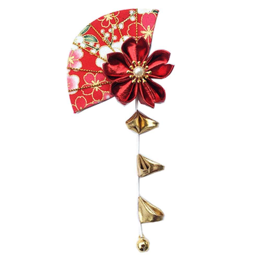 Fancy Pumpkin Pinces /à cheveux Sakura fait /à la main de style japonais Kimono//Hanfu//Yukata Accessoires pour cheveux pour Cosplay//Mariage-E09