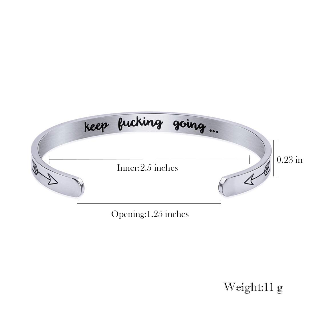 ANTALIYO Inspirational Friendship Unique Gifts for Her Teen Girls Cuff Bangle Sivler Tone Bracelets for Women Men Engraved Bracelet