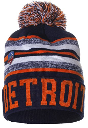 eec8a8b14a3 American Cities USA Fashion Block Letters Pom Pom Knit Hat Beanie with  Detchable Pin