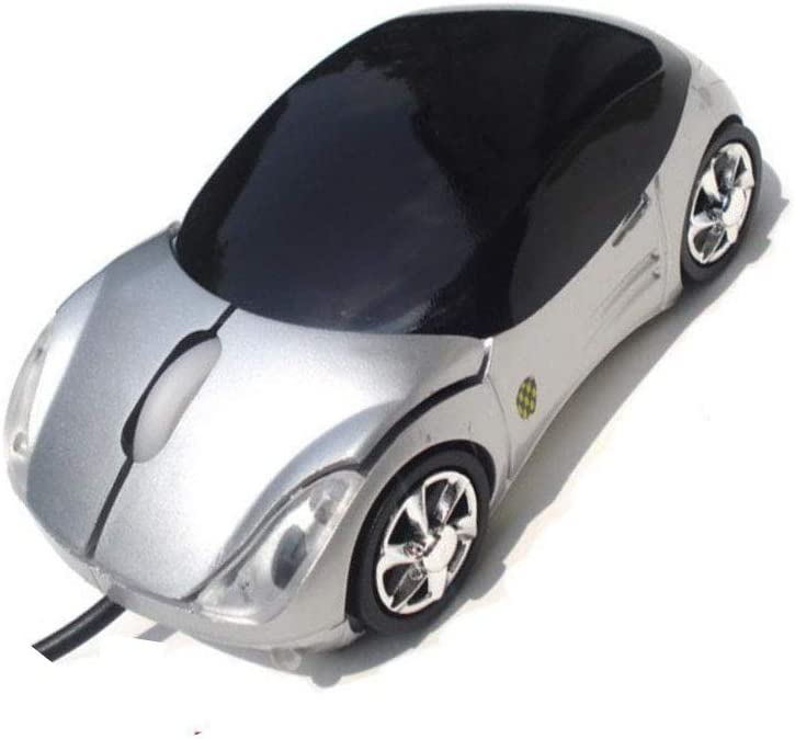 Mouse Novel Wired car Mouse / USB Silver Wired Mouse 2.4G Stable Transmission Colorful Lights 2PCS