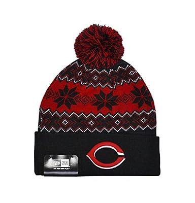 New Era Unisex Cincinnati Reds Black/red Snowburst One Size Beanie