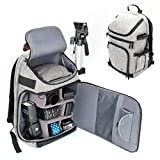 DSLR/SLR Camera Backpack with Padded Custom Dividers, Tripod Holder, Laptop Compartment, Rain Cover and Accessory Storage by USA Gear for Cameras from Nikon, Canon, Sony, Pentax and More