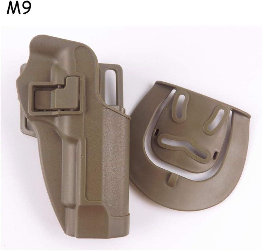 Vioaplem Táctica de la Mano Derecha Pistolera for Glock17 19 / Colt 1911 / Beterra M9 / Sig P226 / HK USP Pistola Caso Caza de Airsoft Accesorios