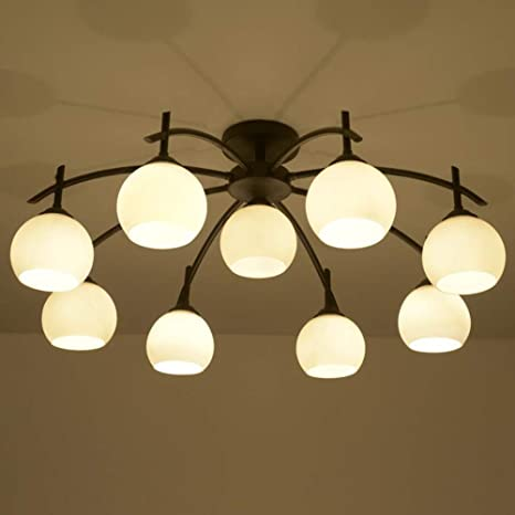 Joypeach Rustic Style LED Flush Mount Ceiling Lights Creative Living ...