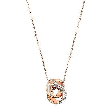 Swarovski Exact Pendant, White, Rose gold plating