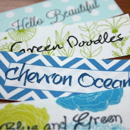 (30 Poly Cotton Custom Printed Sewing Labels Sew On)