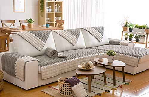 DACRIS Corduroy-Sofa Slipcover, Couch Covers for Dogs, Sofa Slipcover,Couch slipcover(Grey)