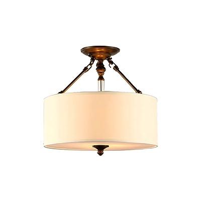 Durable Lampes de plafond, style américain Plafond rond lumière de dôme moderne Simple Luminaire de chambre à coucher luminaire de balcon Cuisine et toilettes Lampes et lanternes Conception d'art