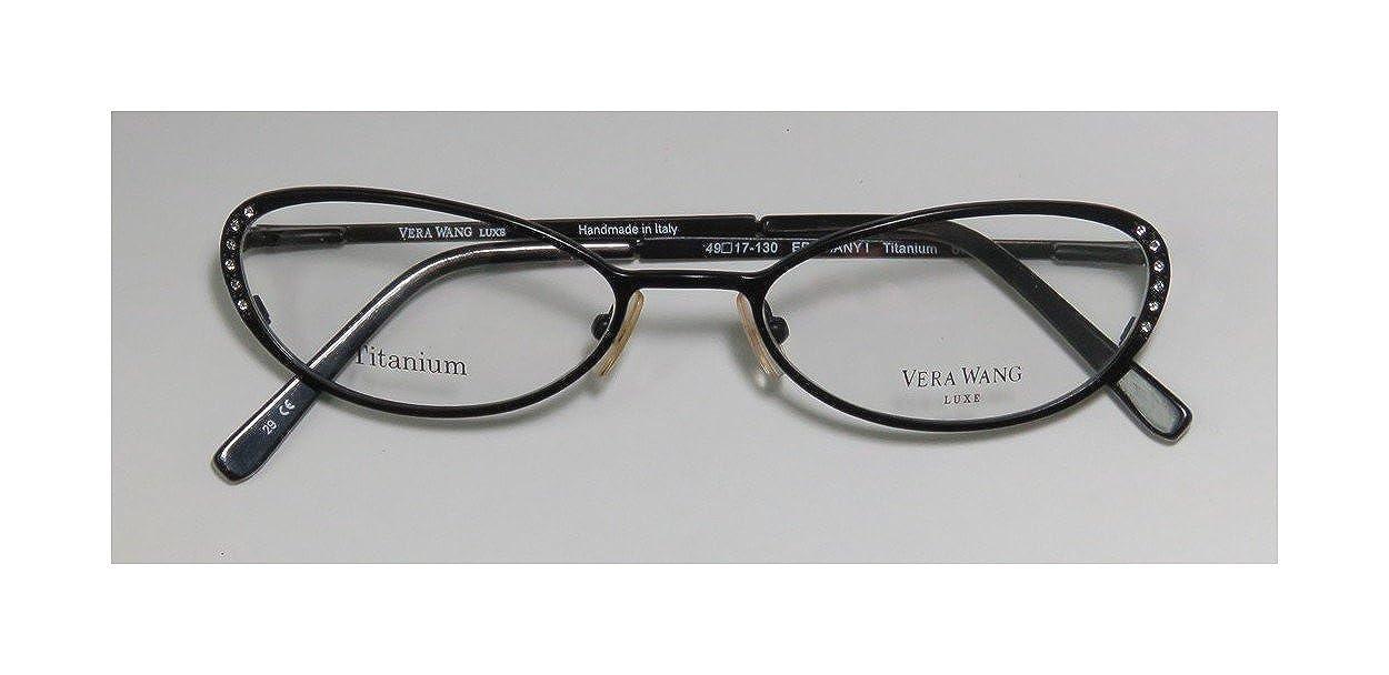 1462c17fef Amazon.com  Vera Wang Epiphany I Womens Ladies Designer Full-rim Titanium  Crystals Flexible Hinges Hot Handmade In Italy Eyeglasses Eye Glasses  (49-17-130