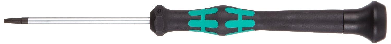 Wera 05118060001 Tournevis pour vis six pans creux 2054 mailles fines 0.7x40mm Hex-Plus Noir//Vert 0.7 x 40 mm