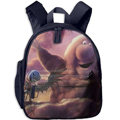 Partly-Cloudy Printed Kids School Backpack Cool Children Bookbag Navy