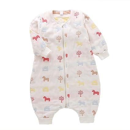 LINAG Sacos De Dormir Para Bebé Swaddling Envolver Jumpsuit Ropa Infantil Escalada Conjoined Piernas Escalada Retroceso