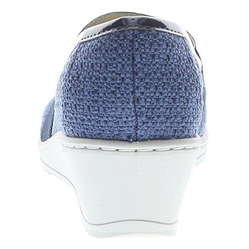 Flexus Womens Création Mocassins Chaussures Bleu
