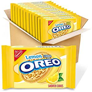 OREO Lemon Creme Sandwich Cookies, 12 - 15.25 oz Packs