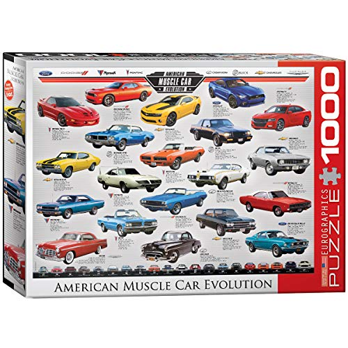 EuroGraphics Muscle Car Evolution Jigsaw Puzzle (1000-Piece) ()