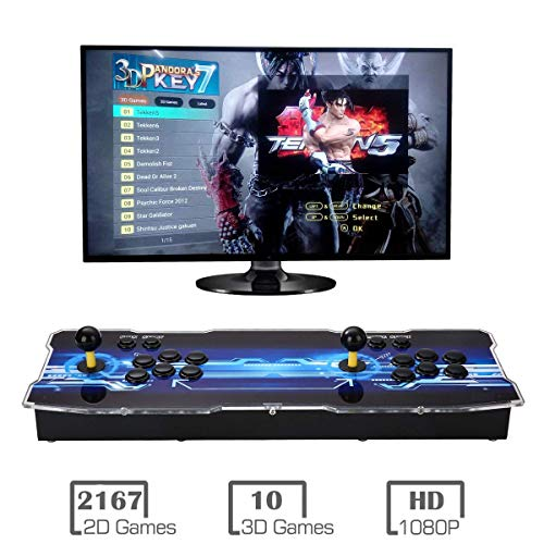 MYMIQEY 3D Pandora Key 7 Arcade Game Console | 2177 Retro HD Games | Full HD (1920x1080) Video | 2 Player Game Controls | Support Multiplayer Online | Add More Games | HDMI/VGA/USB/AUX Audio Output by MYMIQEY (Image #6)