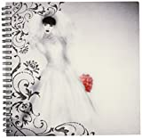 3dRose db_164746_1 Vintage Bride and Wedding Gown Tinted Peach Bridal Bouquet-Drawing Book, 8 by 8-Inch