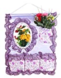 Lovely Storage Boxes Creative Hanging Storage Bags With Mirrors Purple
