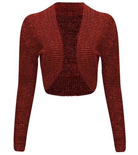 Thever Ladies Knitted Metallic Cardigan