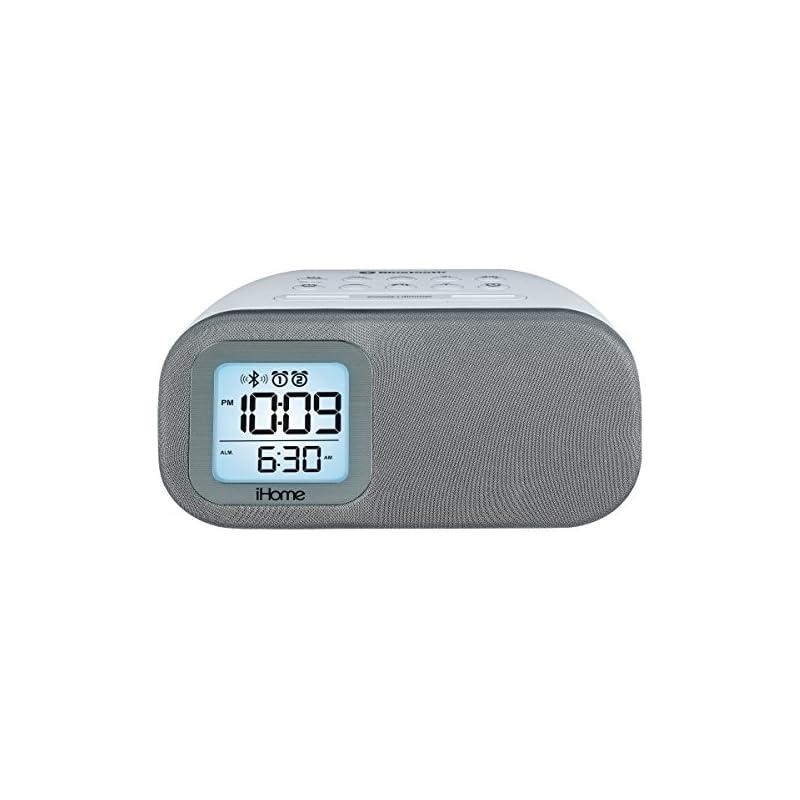 iHome iBT210WS Bluetooth Dual Alarm FM C