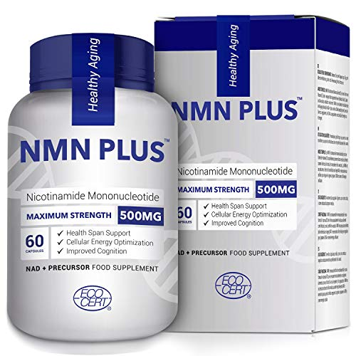 500MG NMN Capsules, Strongly Support Mental Performance & Anti Aging, Nicotinamide Mononucleotide for NAD Supplement…