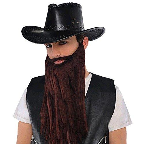 amscan Brown Plush Beard/Moustache -