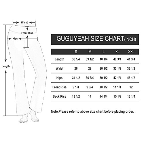 0c41552fae0e4 GUGUYeah Women's Workout Bootleg Yoga Pants Bootcut Leggings Active Wear  with Hidden Pockets(Black Size