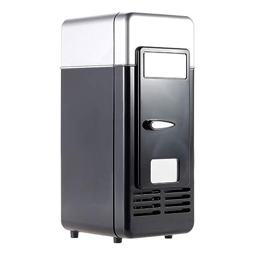 CHENYI Mini Refrigerador USB Mini Refrigerador Portátil Bebida ...