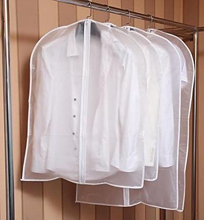 antipolvere 60*80 con cerniera confezione da 5 borse Toechmo Custodia impermeabile e trasparente per vestiti abiti