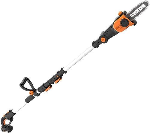 Sun Joe SWJ803E-CMO 10 inch 8.0 Amp Electric Multi-Angle Pole Chain Saw, Camo