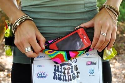 GO BELT-Go Belt-The Original No Bounce Runners Belt, Runners Gear Belt, Refuel Belt, Hydration Belt, Running, Hiking, Cycling, Fanny Pack, Marathon, 10K, 5K--GUARANTEED TO SHIP WITHIN 12 HRS OF ORDER TIME! from Hippie Runner