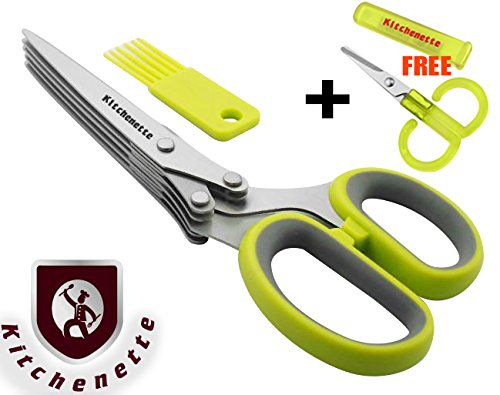 Kitchen Gadget Herb Scissors Shears Professional Heavy Duty Tool 5 Blade St.. 18