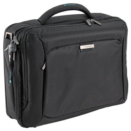 Delsey Business Quarks Laptoptasche Computer Case 1-Fach Schwarz