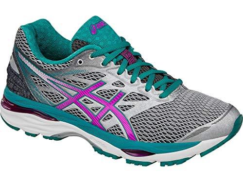 - ASICS Women's Gel-Cumulus 18 Running Shoe, Silver/Pink Glow/Lapis, 7.5 M US