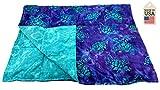 15 LB Weighted Blanket - Batik Turtle - Premium Weighted Washable Body Blanket by Grampa's Garden