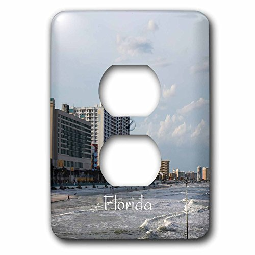 3dRose Florida - Image of Famous Daytona Beach - Light Switch Covers - 2 plug outlet cover - Daytona Beach Outlet